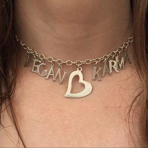 Jewelry - NWT Sterling Silver Vegan Karma Choker Necklace